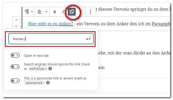 Sprungmarken in WordPress - einfach ein Inhaltsverzeichnis erstellen